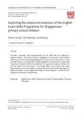 Exploring the classroom practices of the English Exam Skills Programme for Singaporean primary school children