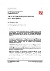 4. The Experience of Being Married to an Adult with Dyslexia