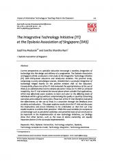 4. The Integrative Technology Initiative (ITI) at the Dyslexia Association of Singapore (DAS)