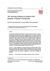 5. The Teaching of Maths to Students with Dyslexia: A Teachers