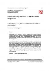 6. Evidence-led improvements to the DAS Maths Programme